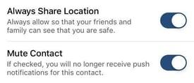Location Sharing Options